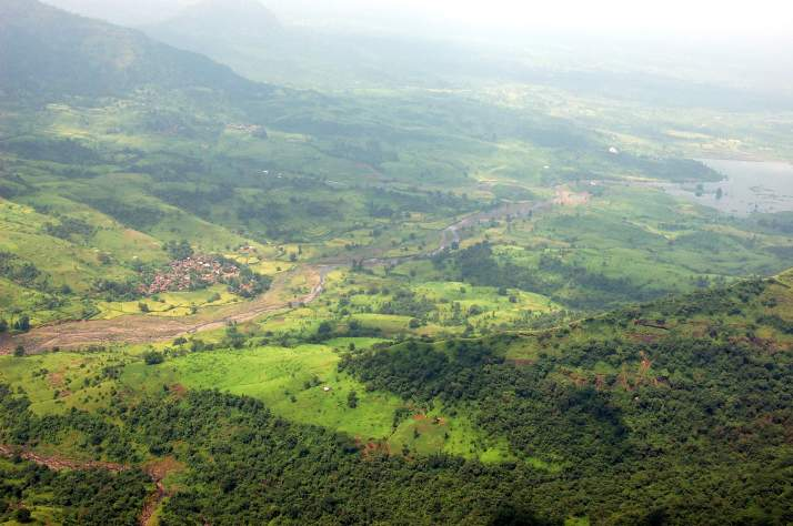 View of Valley from Lohagad Fort