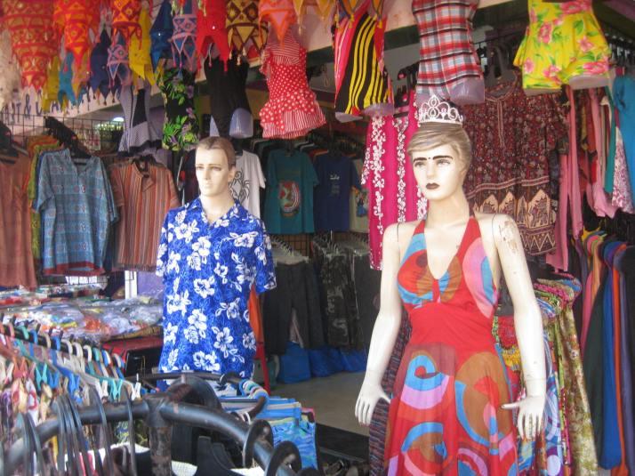 Shops at Calangute Beach
