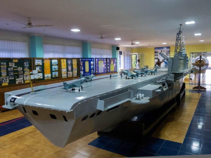 INS Viraat model at the Museum