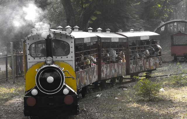 toy train at the maitribagh chhattisgarh